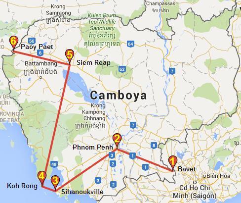 Itinerario Camboya